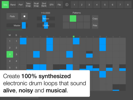 SeekBeats Drum Machine Synthesizer Screenshot