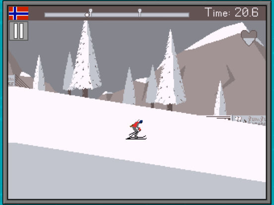 Retro Winter Sports 1986 iOS Screenshots