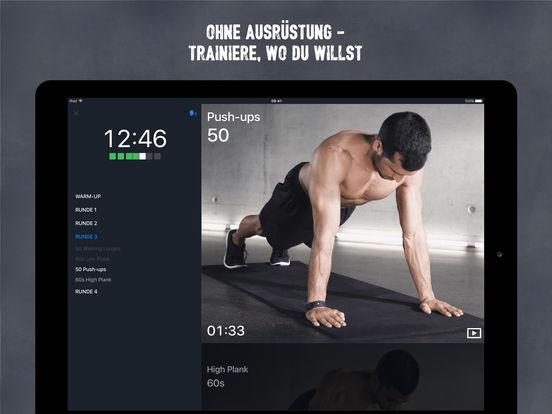 Runtastic Results Bodyweight Training ohne Geräte Screenshot