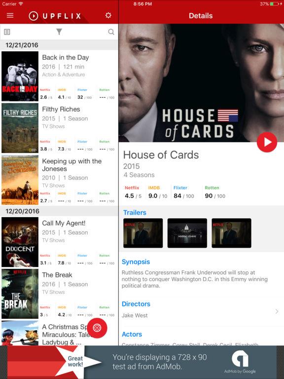 Upflix for Netflix Screenshot