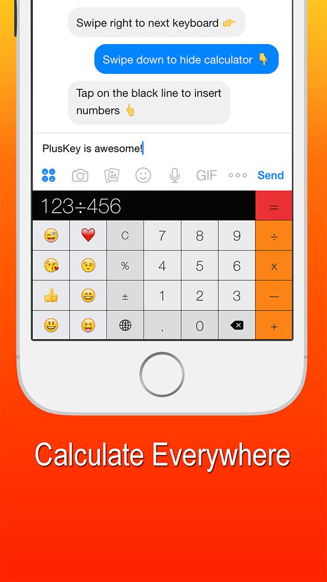 2016年4月2日iPhone/iPadアプリセール 計算機・絵文字キーボードアプリ「PlusKey」が無料!