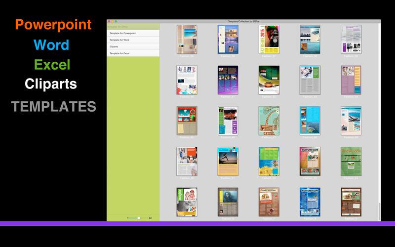 2015年10月18日Macアプリセール ページ&クリップアートコレクションアプリ「Template Collection for iWork」が値下げ!
