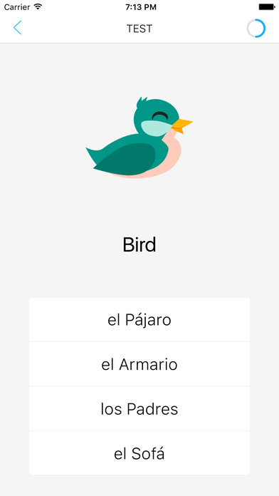 LearnEasy - application for learning Spanish wordsのおすすめ画像1