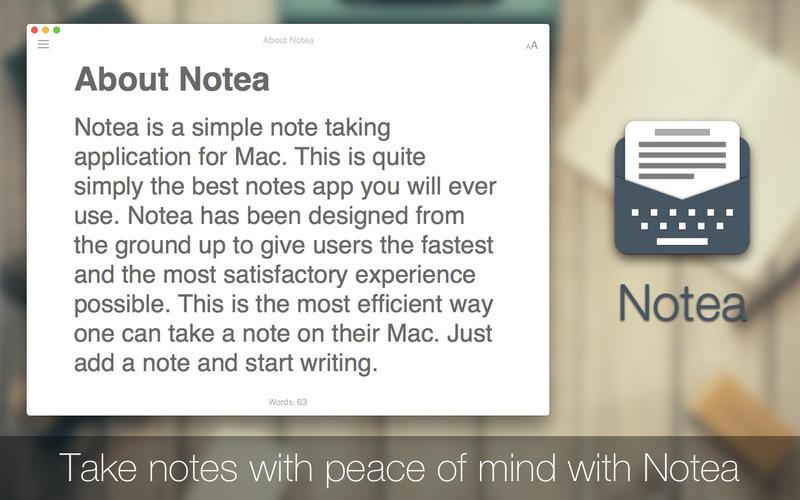 2016年6月28日Macアプリセール ミニノート・テキストアプリ「Notea」が値下げ!