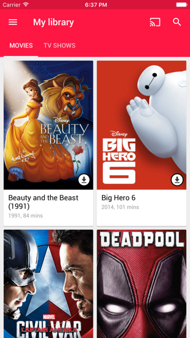 Google Play Movies & TV Screenshots