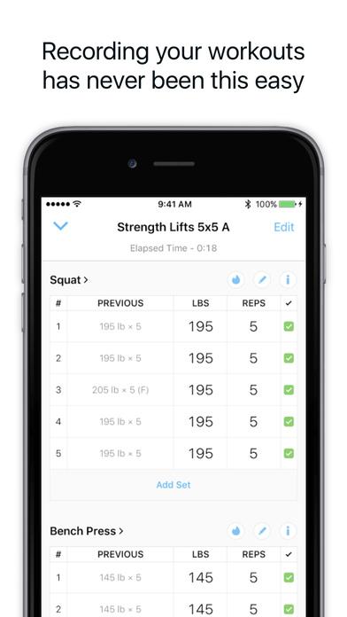 Strong - Workout Tracker for Strength & Fitness Screenshots