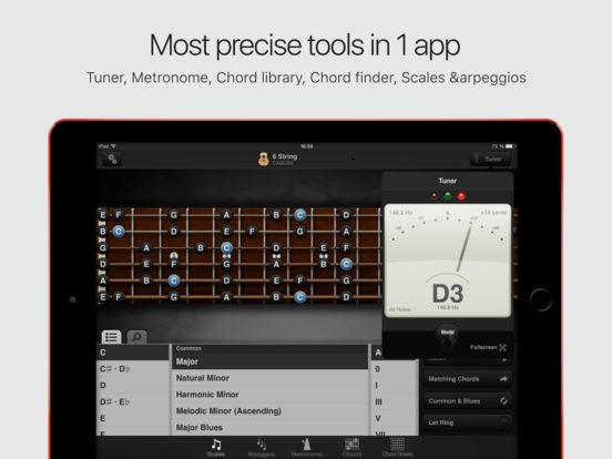 GuitarToolkit - tuner, metronome, chords & scales Screenshots