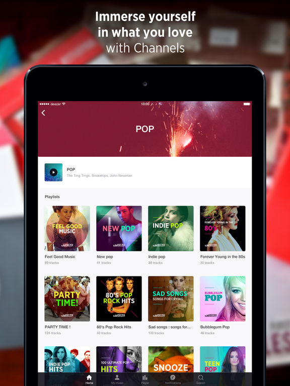 Deezer: Create playlists with your favorite music Screenshots