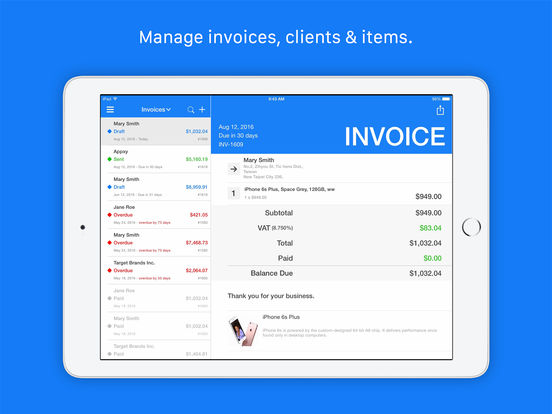 Invoice & Estimate - Tiny Invoice Screenshots
