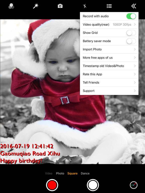 Timestamp Camera Pro - Best add date GPS to video Screenshots