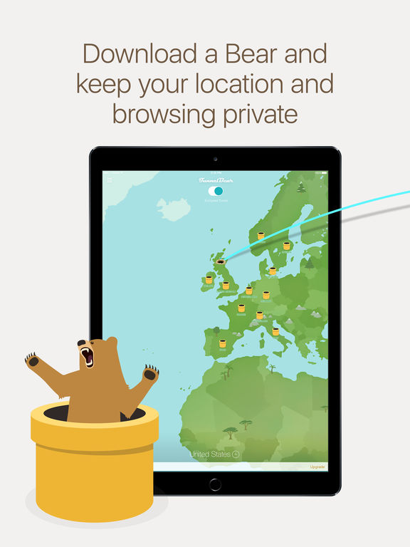 TunnelBear Free VPN - Unlimited VPN Proxy for WiFi Hotspot Protection Screenshots