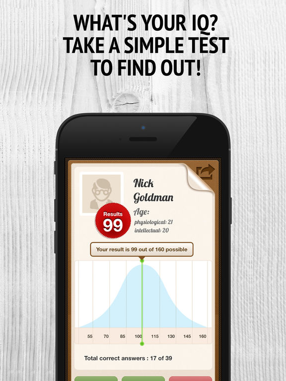 IQ Test Free - Memory Brain Trainer. IQ Scanner, Reader & Navigator. Screenshots