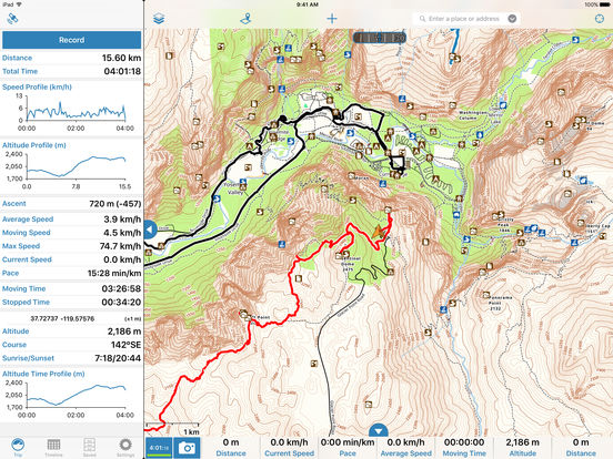 Gaia GPS: Topo Maps and Trails for Offline Hiking Screenshots