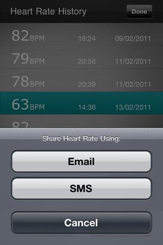 Free Visual Heart Rate Monitor iPhone Screenshot 1