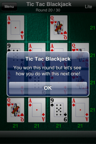 Tic Tac Blackjack Lite