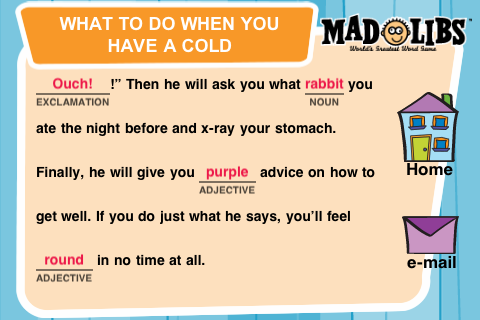 mad libs c project