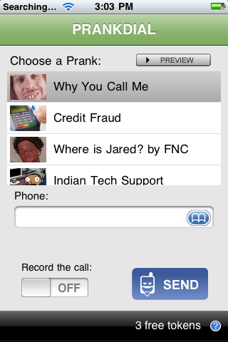 PRANKDIAL screenshot 1