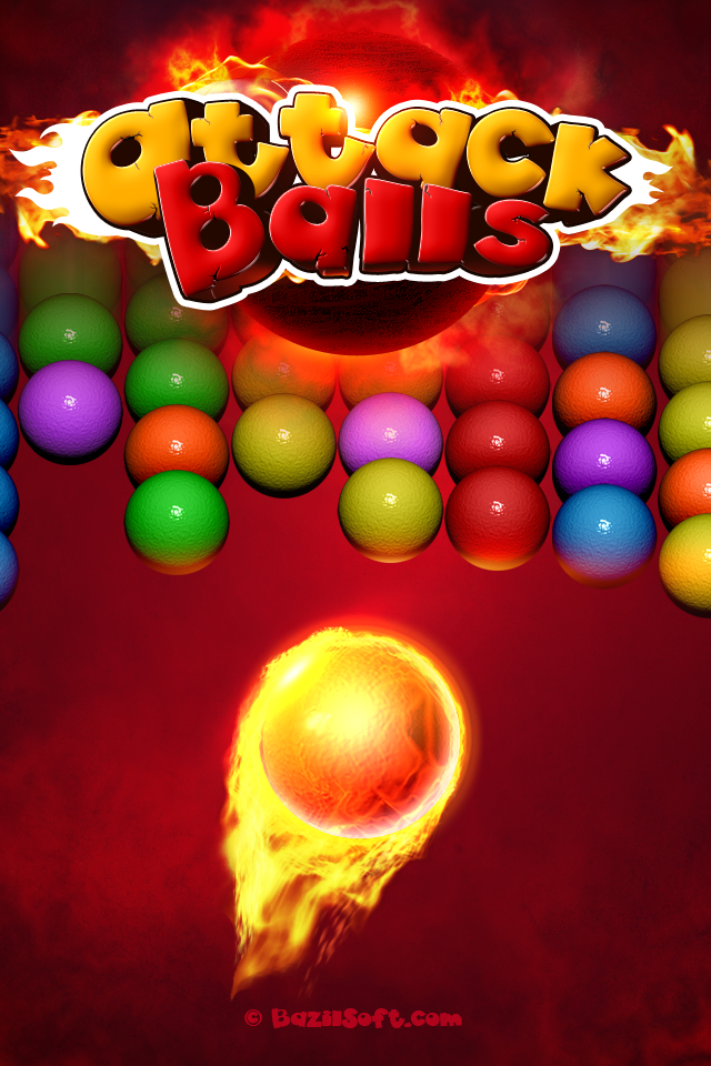Attack Balls - New Bubble Shooter Game Best Cool  Funny Games For Girls  Kids - Touch Top Fun