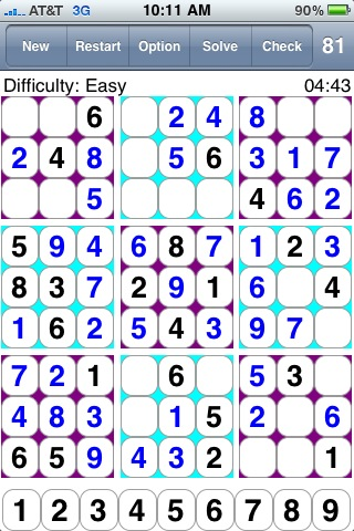 81 Squares 數獨  스도쿠 81乗  Судоку  10000 puzzles