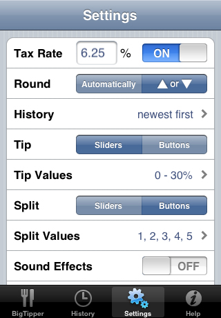 BigTipper (Tip Calculator with History)