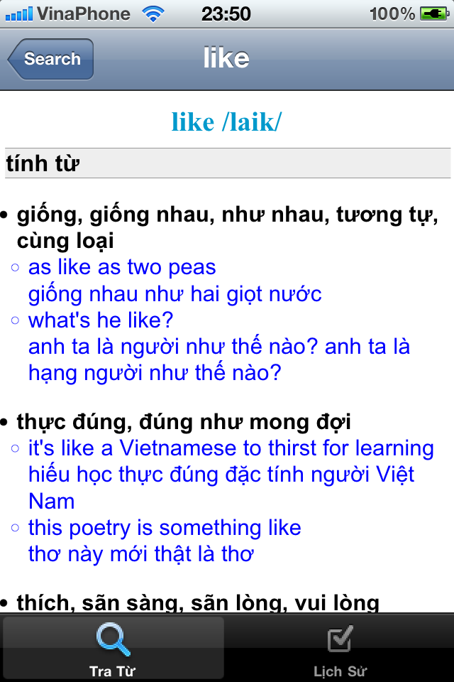 Image of Lạc Việt English Vietnamese Dictionary for iPhone