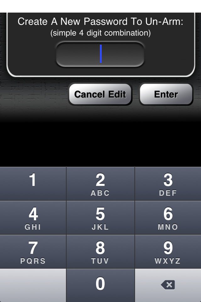 iSecure Alarm Screenshot