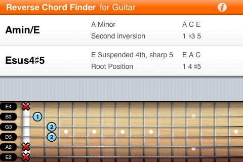 App Shopper: Reverse Chord Finder for Guitar ~ Inverse Chord ...