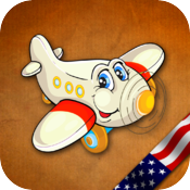 GeoFlight USA HD: Learning American Geography made easy and fun icon