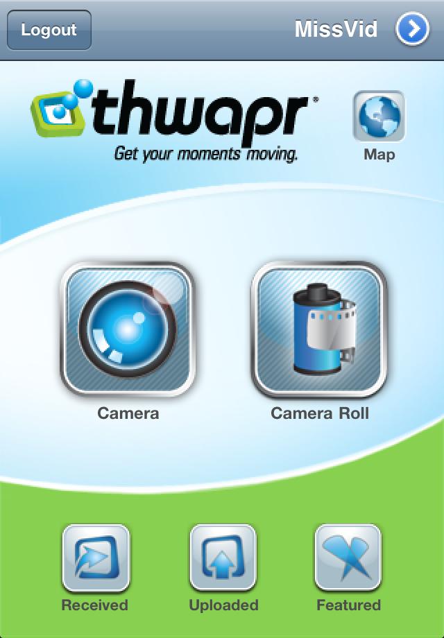 Thwapr Video Sharing free app screenshot 1