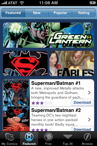 DC Comics free app screenshot 1