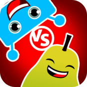 Fruit vs Robot - Multiplayer trivia quiz, four in a row, checkers, and more icon