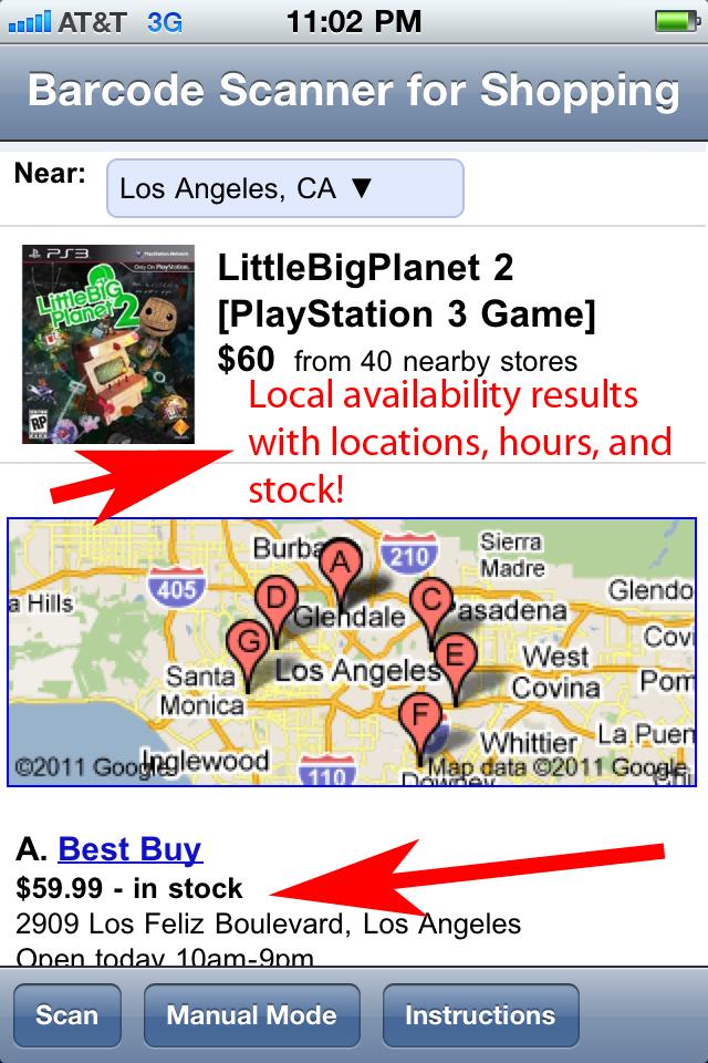 Barcode Scanner Shopping screenshot 2