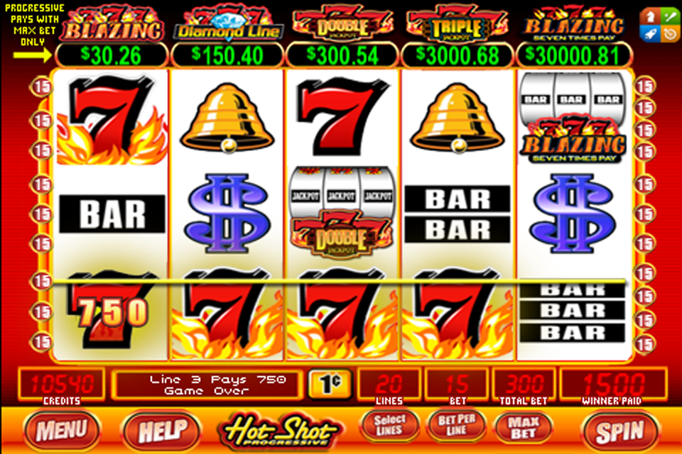 hot shots progressive slot machine