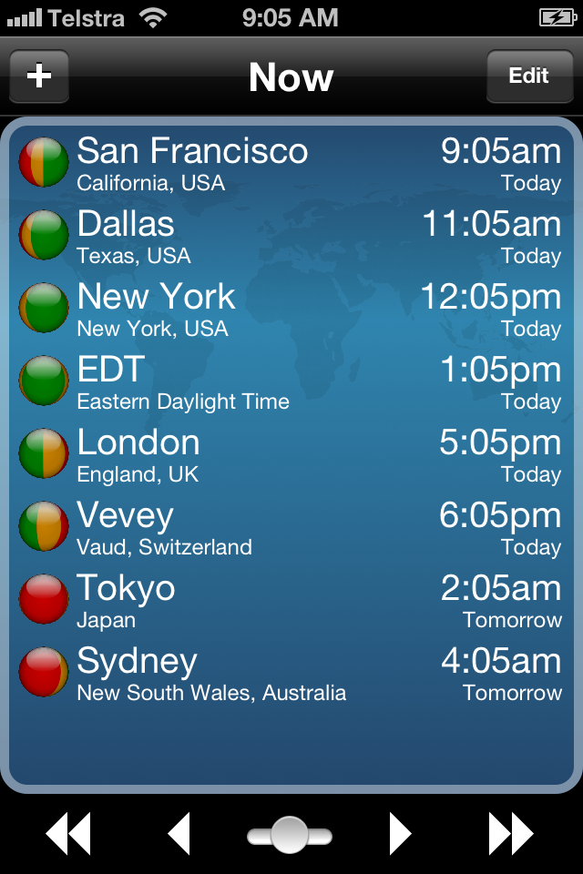 TimeScroller - Time Zone Utility