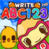 ABC 123 Writing Practice HD - Trace Alphabet Letter and Number Shapes