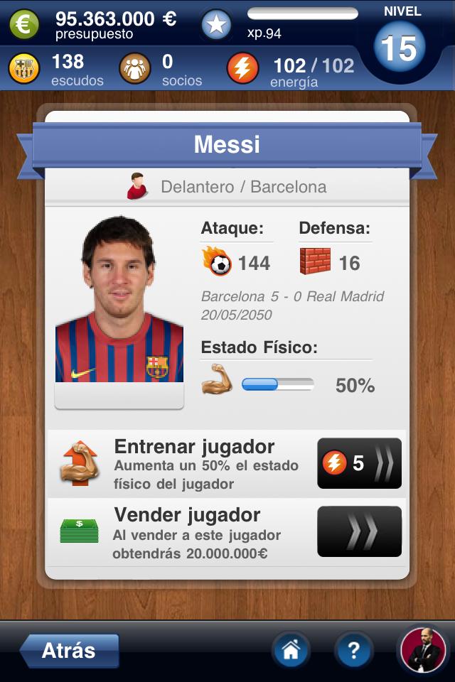 FC Barcelona Fantasy Manager 2012 screenshot 3