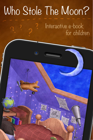 Who Stole The Moon? - Interactive e-book for children (iPhone version)Screenshot1