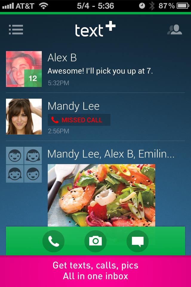 textPlus Free Calls screenshot 3