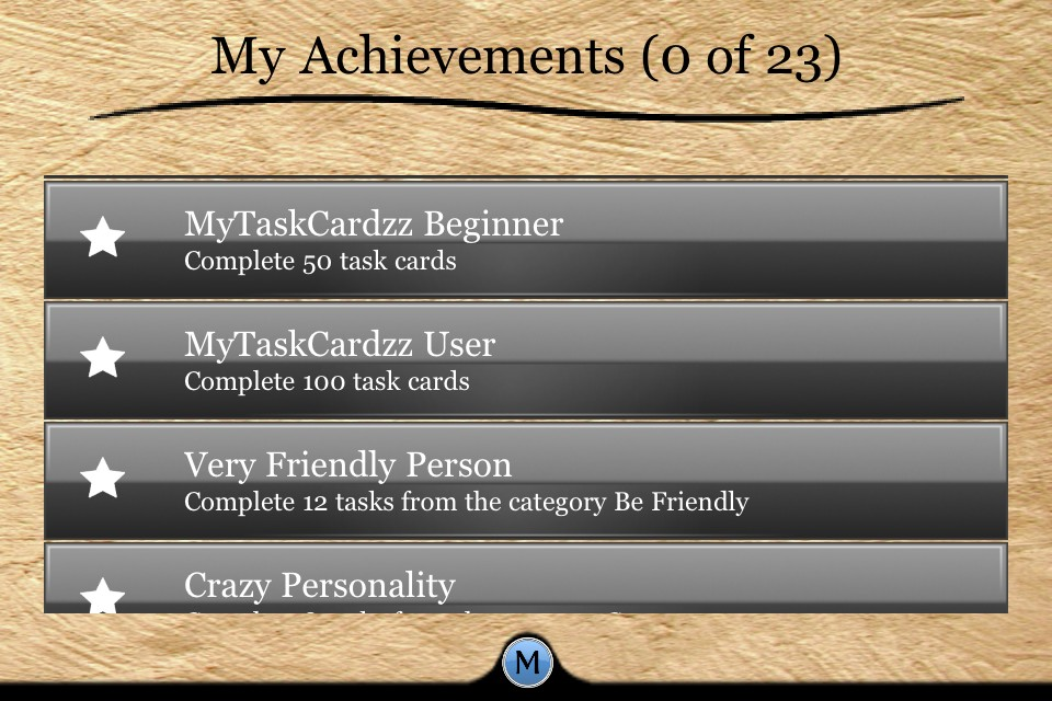 MyTaskCardzz Screenshot