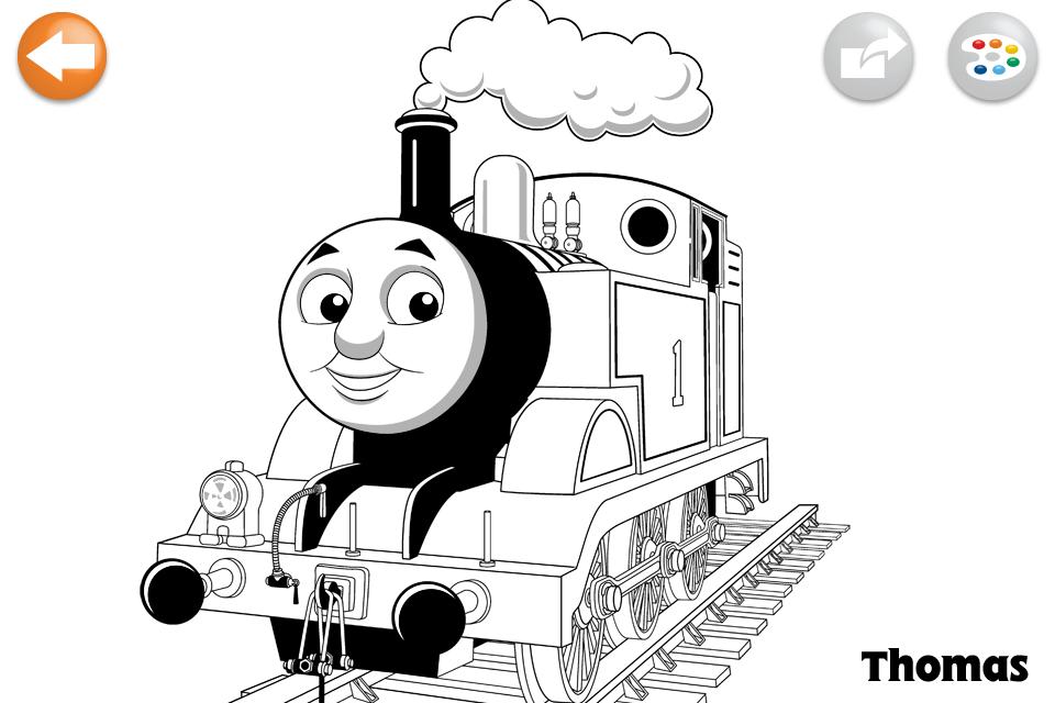 Famoso Dibujos De Tren De Thomas Imágenes - Dibujos Para Colorear En ...