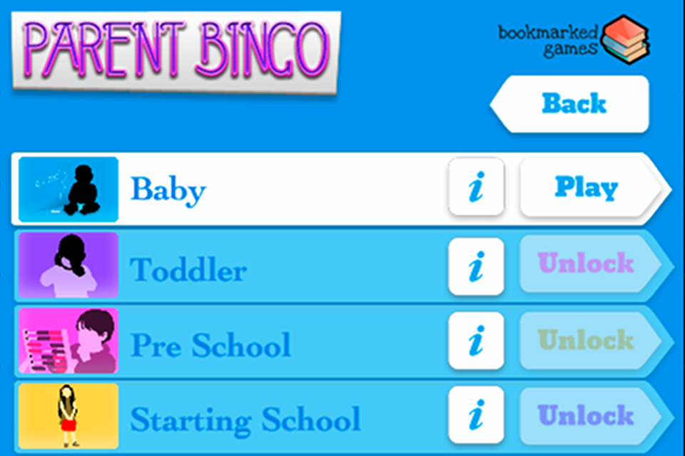Parent Bingo Screenshot