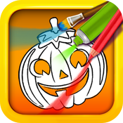 Halloween Color & Draw: coloring book icon