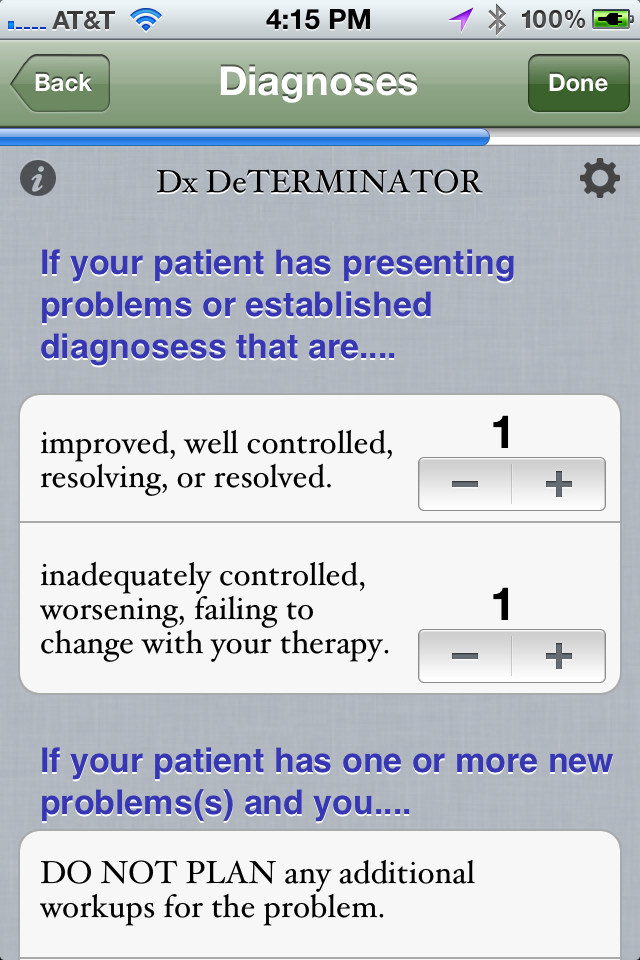 E and M inator medical coding app for the iPhone
