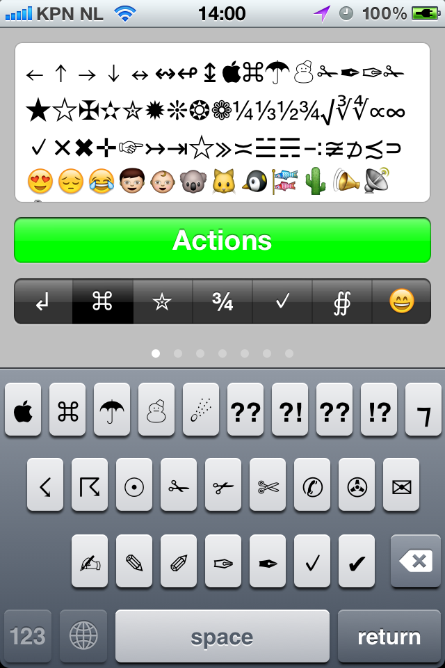 Symbol Keyboard Adds Symbols Emoji And Ascii Keyboard Iphone