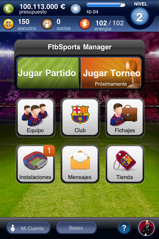 FC Barcelona Fantasy Manager 2012 screenshot 2