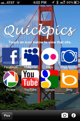 Quickpics Lite (75 pics per minute) free app screenshot 1