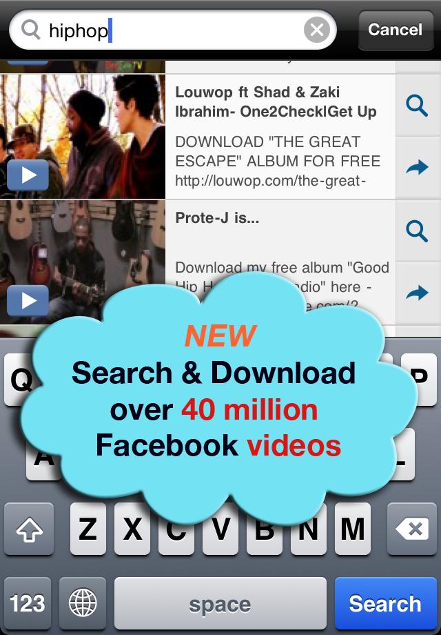 VideoGet for Facebook LITE - Video Player, Downloader & Download Manager free app screenshot 1