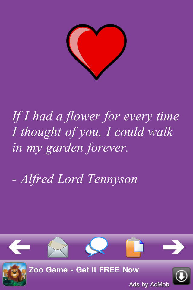Love Quotes 500 free app screenshot 1