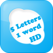5 Letters 1 Word HD icon