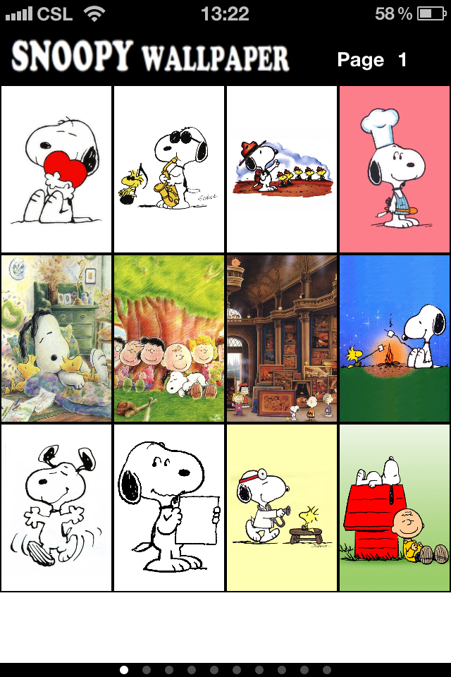 Image of Snoopy's Wallpaper for iPhone